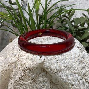 Givenchy bangle bracelet lucite red